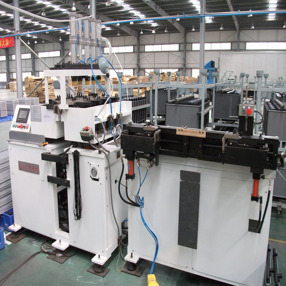 Radiator production line/core assembly machine/core crimping machine