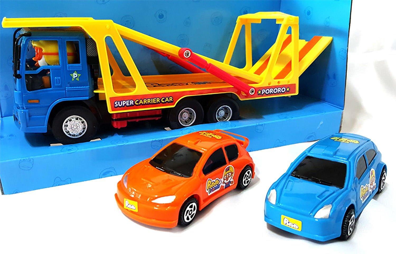 Pororo Super Carrier Truck + 2 Mini Car Toy Set Children's Kids Gift /ITEM#G839GJ UY-W8EHF3103459