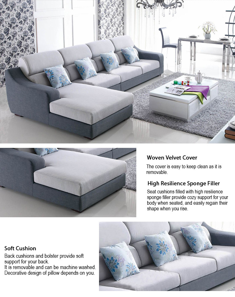 Foshan Low Price Furniture Set Low Seater Modern L Shaped