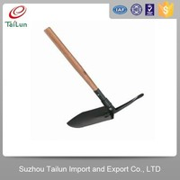 Tailun Wooden Handle Folding Snow Shovel With Pickaxe