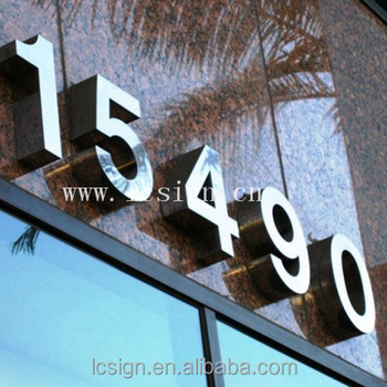 Customized D Stainless Steel Metal House Numbers Buy Metal House - Cheap metal house numbers