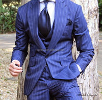 Tailor made to measure navy blue cashmere wool Men's suit men's suits for sale