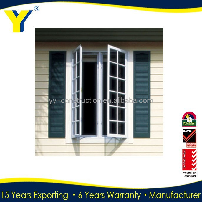 Aluminium Casement Window with blinds iron Doors and windows Made In China