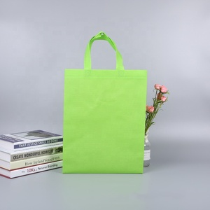 Super grade customized non woven tote bag reusable reinforced handle grocery tote bag large