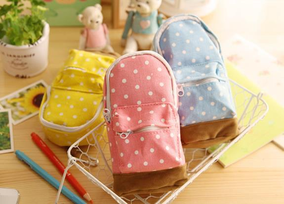 Wholesale Stock Small Order Creative Pot Mini Backpack Large Canvas Pencil Bags