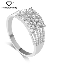 Groothandel Vrouwen <span class=keywords><strong>Euro</strong></span>-Amerikaanse <span class=keywords><strong>Zirkoon</strong></span> Volledige Diamond Fashion Koperen Vinger Ring