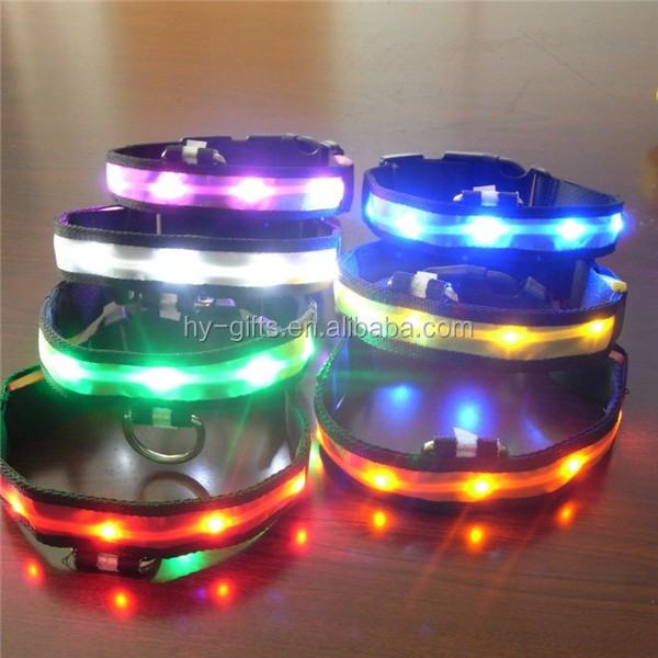 high quality led collar colored light dog collar flashing led dog collar