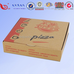 wholesale and custom pizza packing box,2 color printed custom pizza boxes