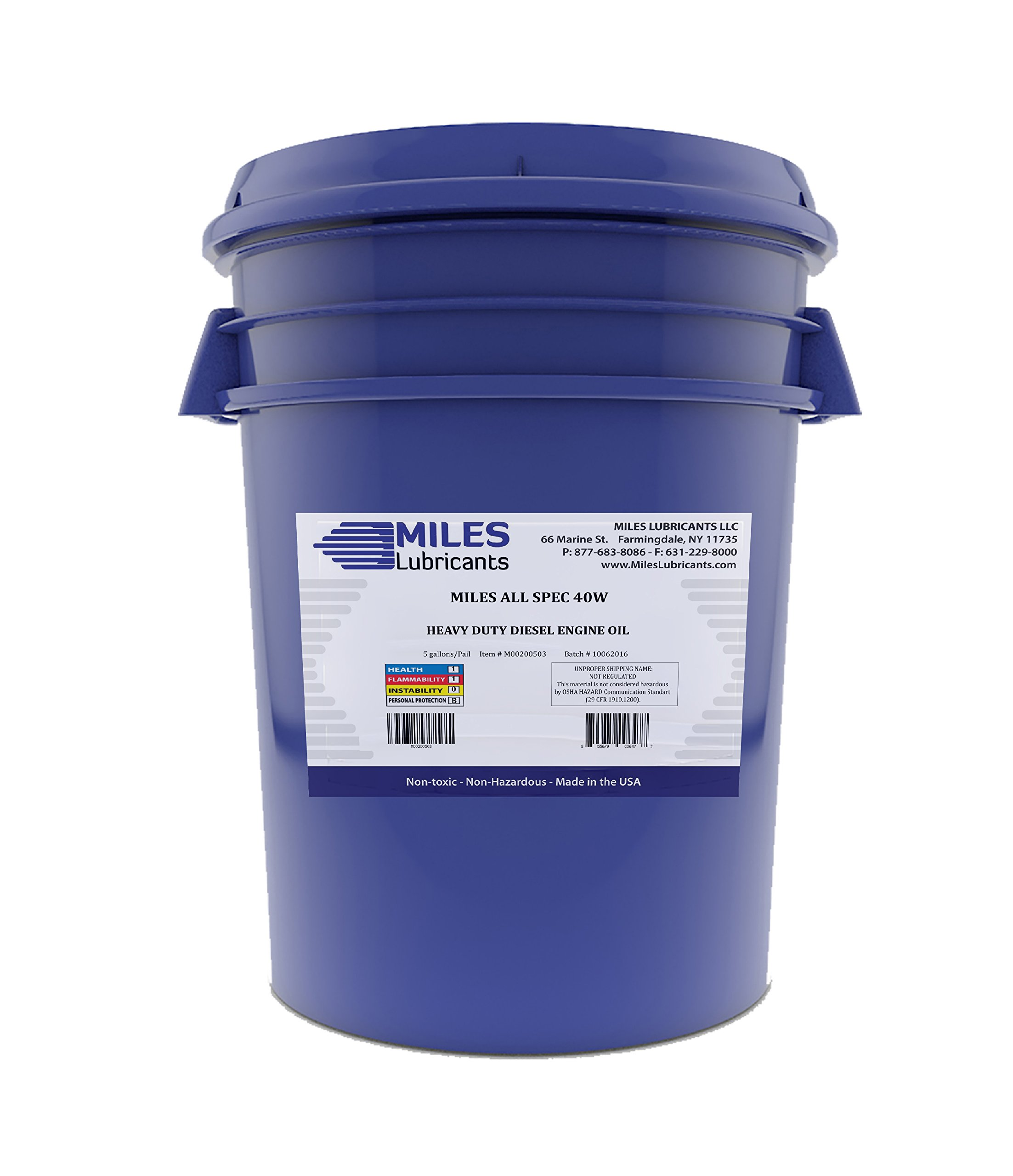 Miles All Spec 40W Heavy Duty Diesel Motor Oil 40W 5 Gallon Pail