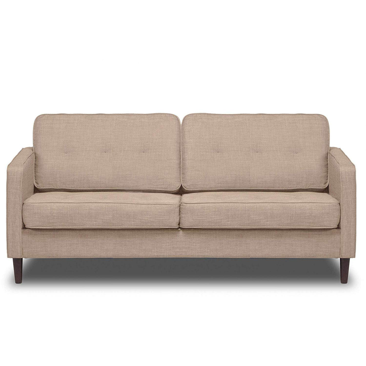 """Buckwheat 66"""" Upholstered Sofa, Pocket Coil Seat Cushions, Solid Wood Legs, Hardwood Solids, Metal Seat Frame, Removable Slip Cover, Bundle with Our Expert Guide with Tips for Home Arrangement"""