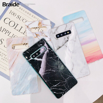 New Amazing Marble Design Pattern TPU phone case cover with/Without Pop Up Holder For Samsung S10 S10e S9 S8 Plus Note 8 A50