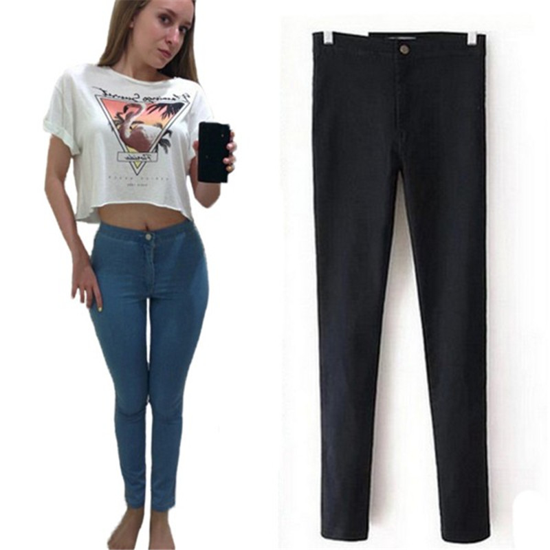 100 Good Feedback Spring Skinny Jeans Woman High Waist Jeans Femme Stretch Women s Pants Denim