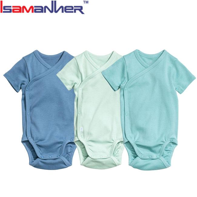 ฤดูร้อนเสื้อผ้าทารกแรกเกิดบอดี้สูทเปล่าผ้าฝ้ายธรรมดาสำหรับทารก