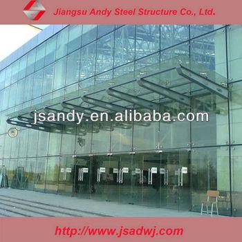Full Glass Curtain Wall,Curtain Wall Canopy Roof - Buy Glass Curtain Wall,Structural Glass ...