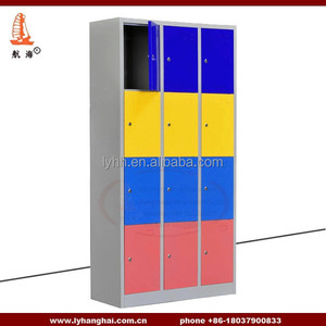 Hotel Furniture Outdoor Public Area Storage Service Popular design red metal bedroom furniture 4 Tier clothes locker