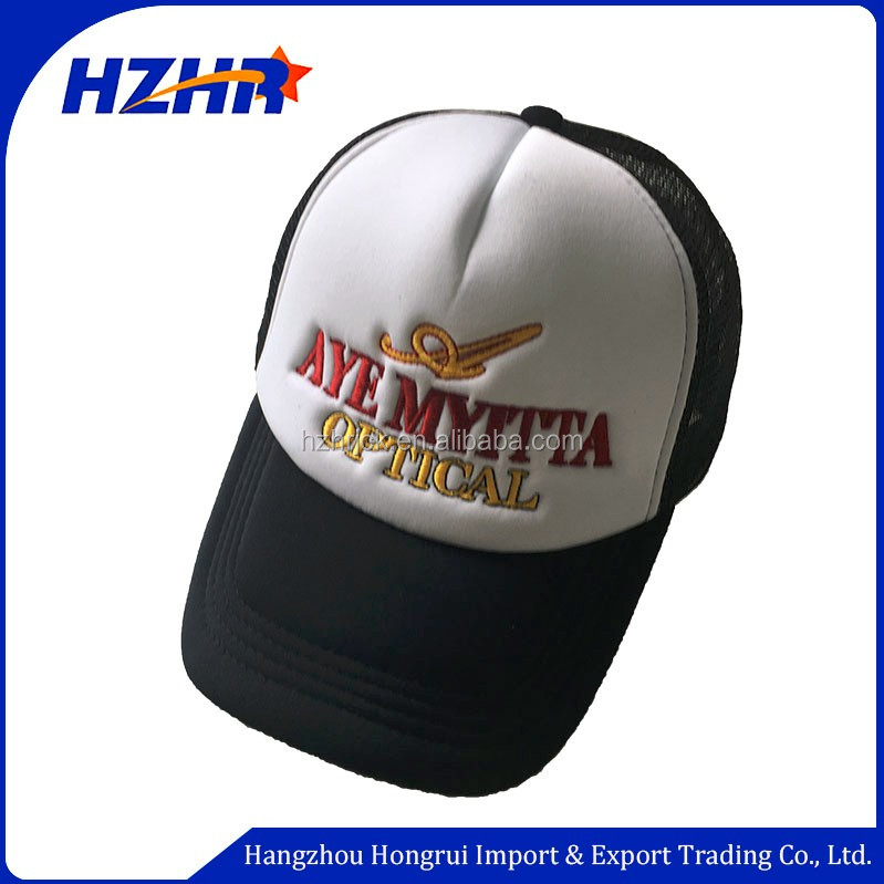 Custom Embroidery trucker hat snapback hat 3d embroidery snapback Mesh caps hat