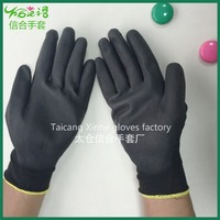 PU nylon coated on the polyester gloves working gloves