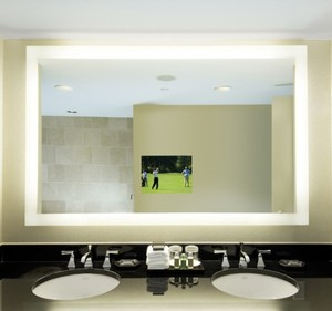 2018 Modern Waterproof IP44 Illuminated Full Length Bathroom LED Lighted Smart TV Mirror