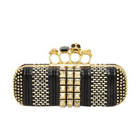 Women Hard Case Rhinestone Clutch Bag Evening Bags with Studs EV1028