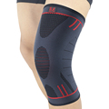 2 Pcs Kuangmi Knee Compression Sleeve Support Sport Spring Brace Silicone Pad Basketball Patella Pain Relief