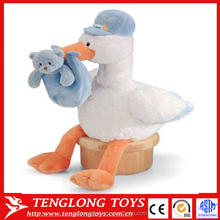 2016 new product stuffed plush stork toy