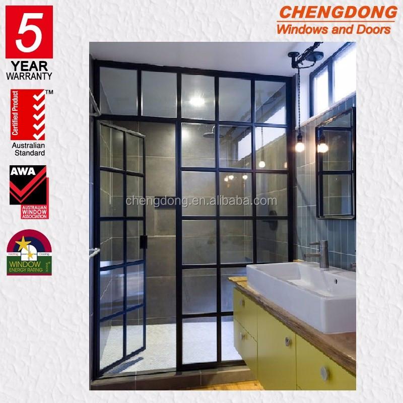 Black Framed Glass Bathroom Shower Doors Buy Black Framed Shower