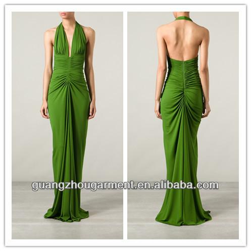 Vestidos largos de fiesta color verde esmeralda