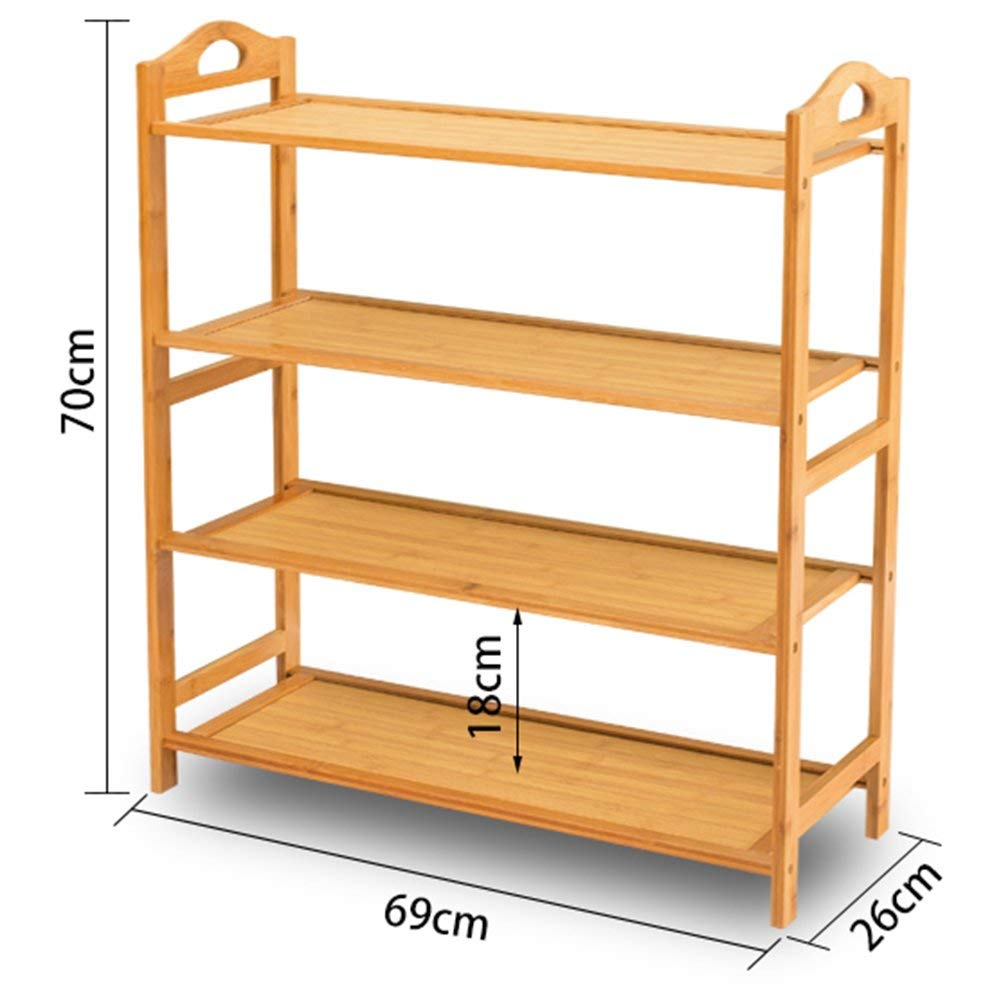 Kitchen Storage Rack Multifunction Shelf Multilayer Dining Car Mobile Trolley Hot Pot Shelf Solid Wood Household Kitchen 3