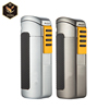 Guangzhou YuJia cohiba butane cigar lighter with cigar punch gas lighter