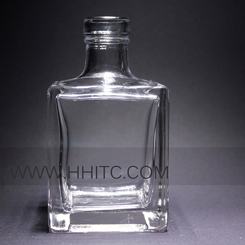 50 ml Essential Oil Diffuser Clear Glass Bottle Square Shape Empty Glass Bottle