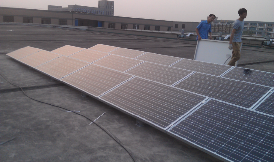 Flat roof fold/adjustable solar power mounting system