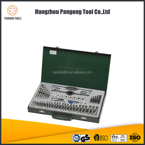 Best 51pcs alloy steel or hss tap die and drill set for tapping tool set
