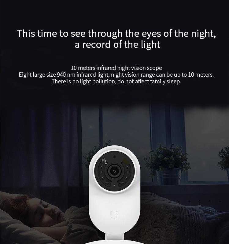 Xiaomi Mi Home IP Camera 1080P WiFi Wireless Night Vision Motion Sensor Web APP