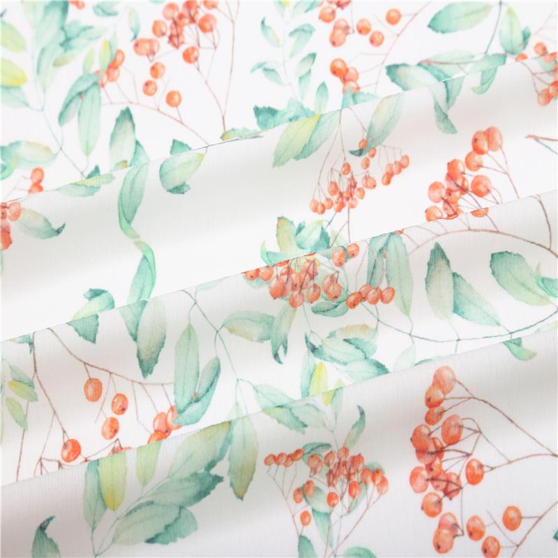high quality polyester digital printed fabric chiffon