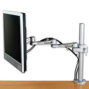 Compucessory Deluxe LCD Desktop Mount 2-Way Adjustable Monitor Arm Up To 22in Holds 10kg Silver Ref 7220S