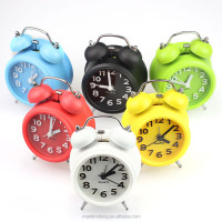 New FashionHot Sale 6 Colors Small Double-Bell Night Light alarm clock wholesale alarm clock travel alarm clock