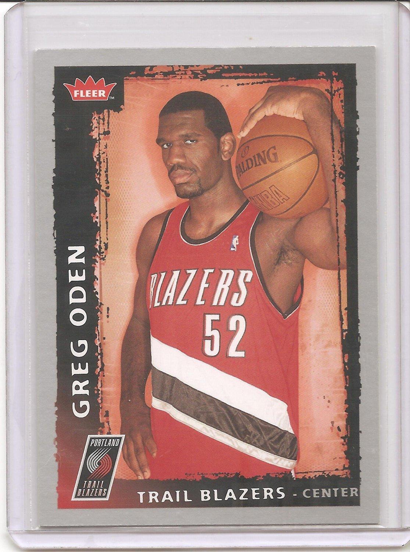 2008-09 Fleer Basketball Card # 165 - Greg Oden