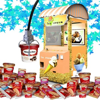 2019 Funny vending machine ice cream food truck cart shop