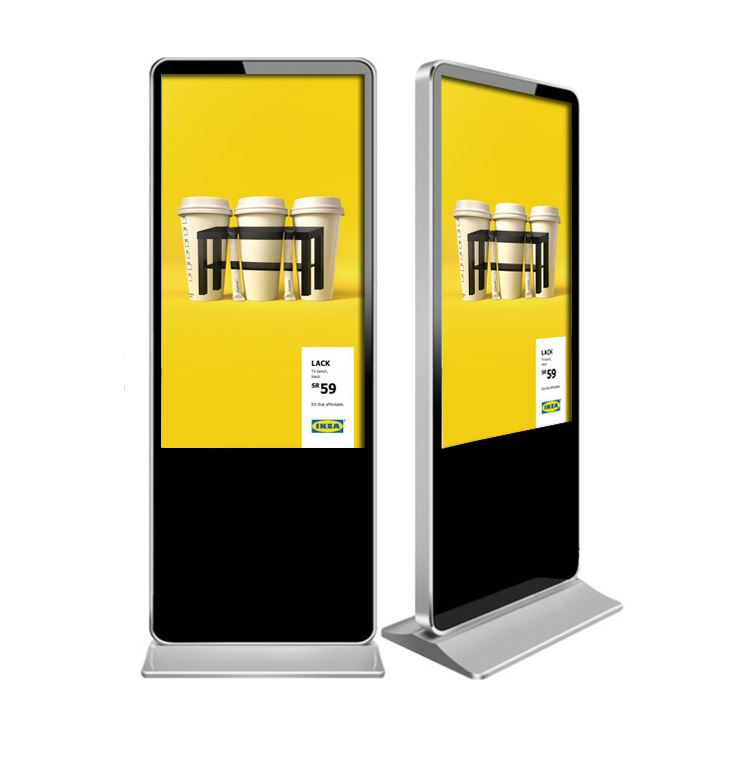 free stand digital signage vertical tv display with free software