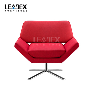 Nordic style attractive color fabric swivel lounge leisure chair