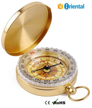 Outdoor Compass Made In China Supply,Free Sample Brass Compass Keychain 4 Camping Tent Tool Sport Gear,Compass Glow In the Dark