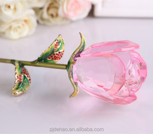 Gorgeous K9 Crystal Rose Flower Birthday Gift