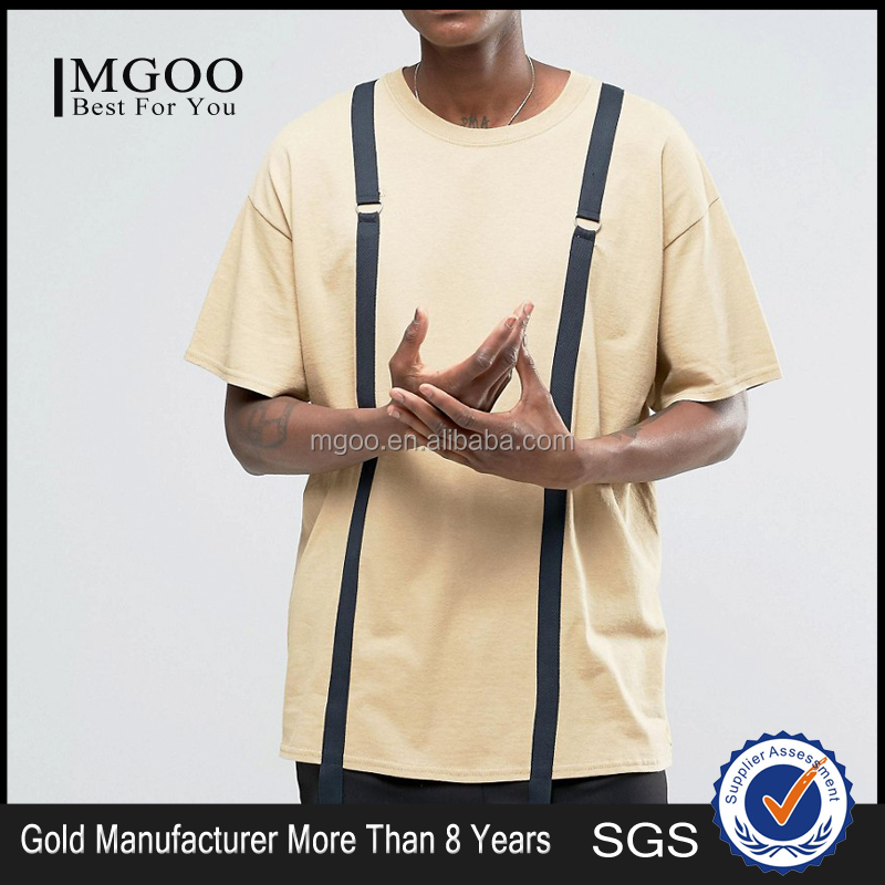 MGOO Customized Made 100 Cotton 170g Shirts Vintage Oversized Mens Tops Strap Details