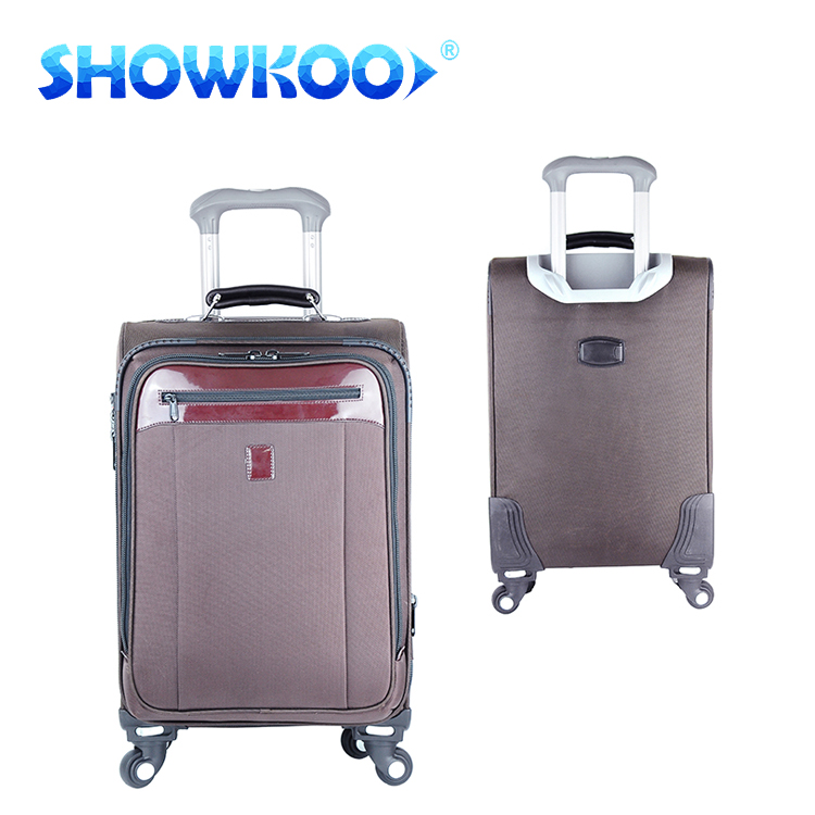High quality new arrival compartment hang upscale parts camel trolley luggage bag vintage luggage bags case