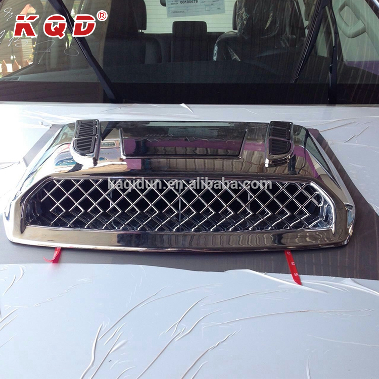 ABS chrome accessories bonnet hood scoop cover air scoop cover for hilux revo 2016