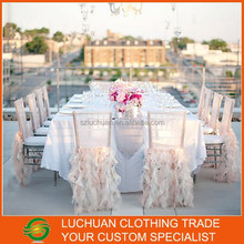 Graceful Fancy Pink Chiavari Ruffle Chair Covers For Weddings