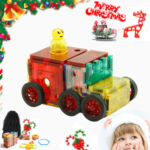 Christmas gift 32-130 Pieces Best Price High Quality Baby Educational Construction Magnetic Tiles Toy