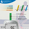 ((Bluetooth)) CE ISO certified Glucose, Uric Acid & Cholesterol blood type test kit