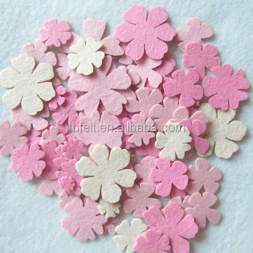 High Quality 1-3mm Thickness Die Cut Felt Shapes