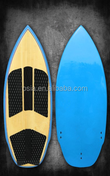 60 inch ride wake surfboard, wakesurfer, wake surf board with Bamboo veneer including Traction Deckpad and 3pcs FCS fins